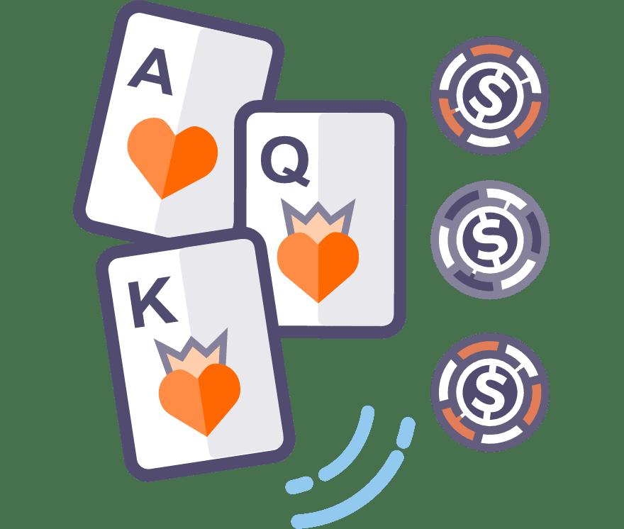 Jogue poker de três cartas ao vivo